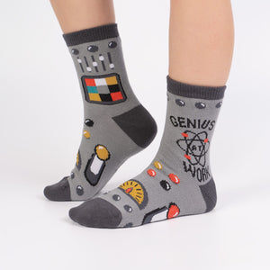 Genius At Work Junior Crew Socks