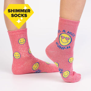 Be A Nice Human Junior Crew Socks
