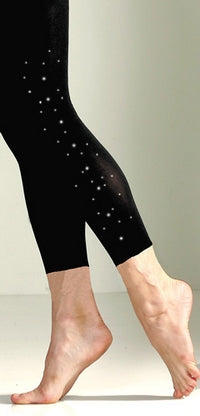 Microfiber Tights w/Crystals