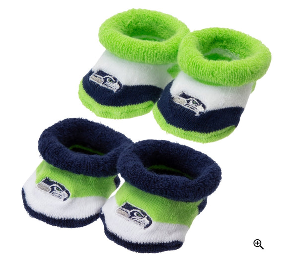 Seattle Seahawks Booties, Infant 0-6 months
