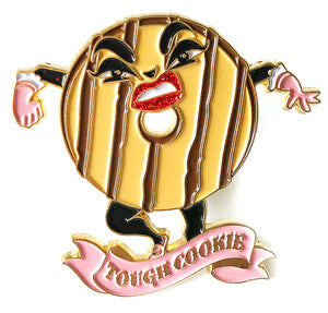 Kitschy Delish - TOUGH COOKIE PIN W/GLITTER HIGHLIGHTS