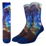 Pillars of Creation Nebula, Large (8-13 Men's) Active Fit Crew