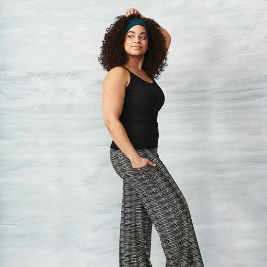Palazzo Pants, 90%  Organic Cotton, Ankle Length