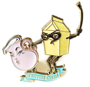 Kitschy Delish - WHIPPING CREAM ENAMEL PIN WITH GLITTER