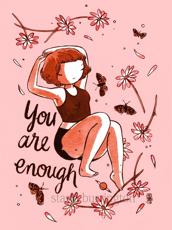 Vinyl Stickers - Self care - You are loved - You are enough - You are strong