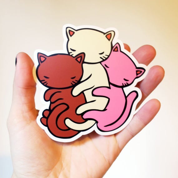 Vinyl Sticker - Neapolitan Cat Spoon