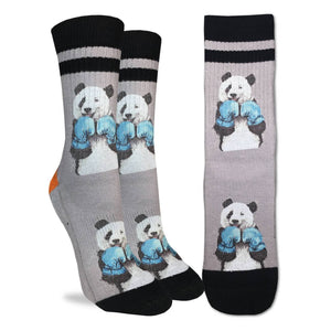 Boxing Panda, Medium (5-9 Women's) Active Fit Crew
