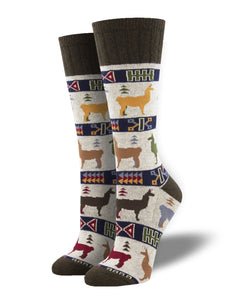 Llama Out Of Here, Outlands Collection, Boot Sock