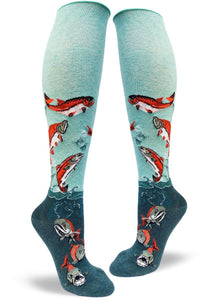 Sockeye Salmon, Women's Knee-High