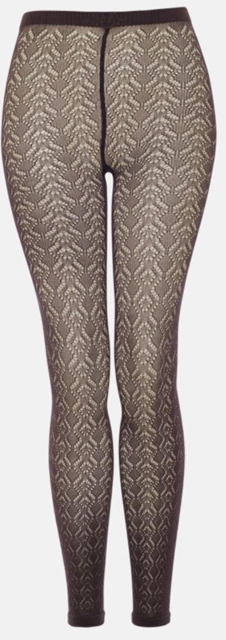 X B.ella Lacy Cotton Crochet Footless Tights