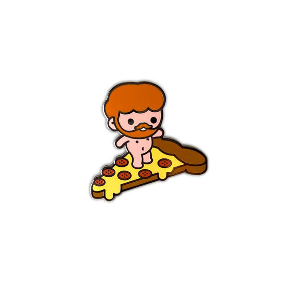Pizza Surfer, Enamel Pin
