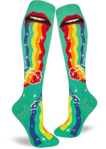 Puking Rainbows, Women's Knee-High