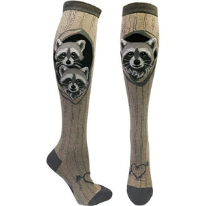 Raccoon Den Knee-High