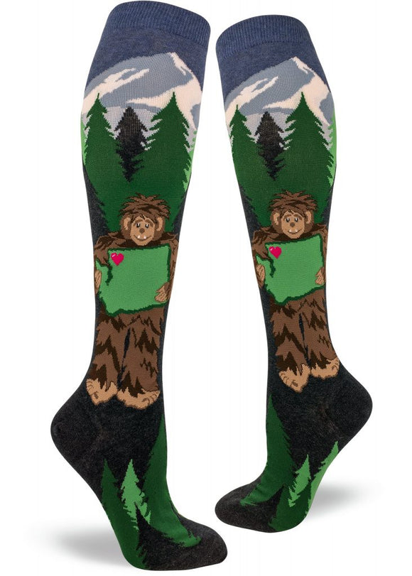 Sasquatch Loves Washington, Women's Knee-High
