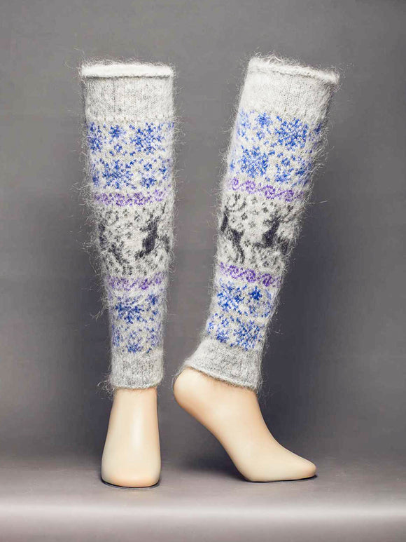Crystal Dream, Goat Wool, Women's Leg Warmers