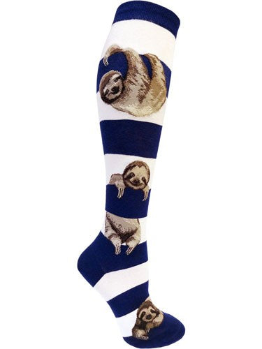 Sloth Stripe, Women's Knee-High