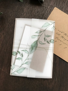 Vellum Sheet ONLY with Printed Greenery