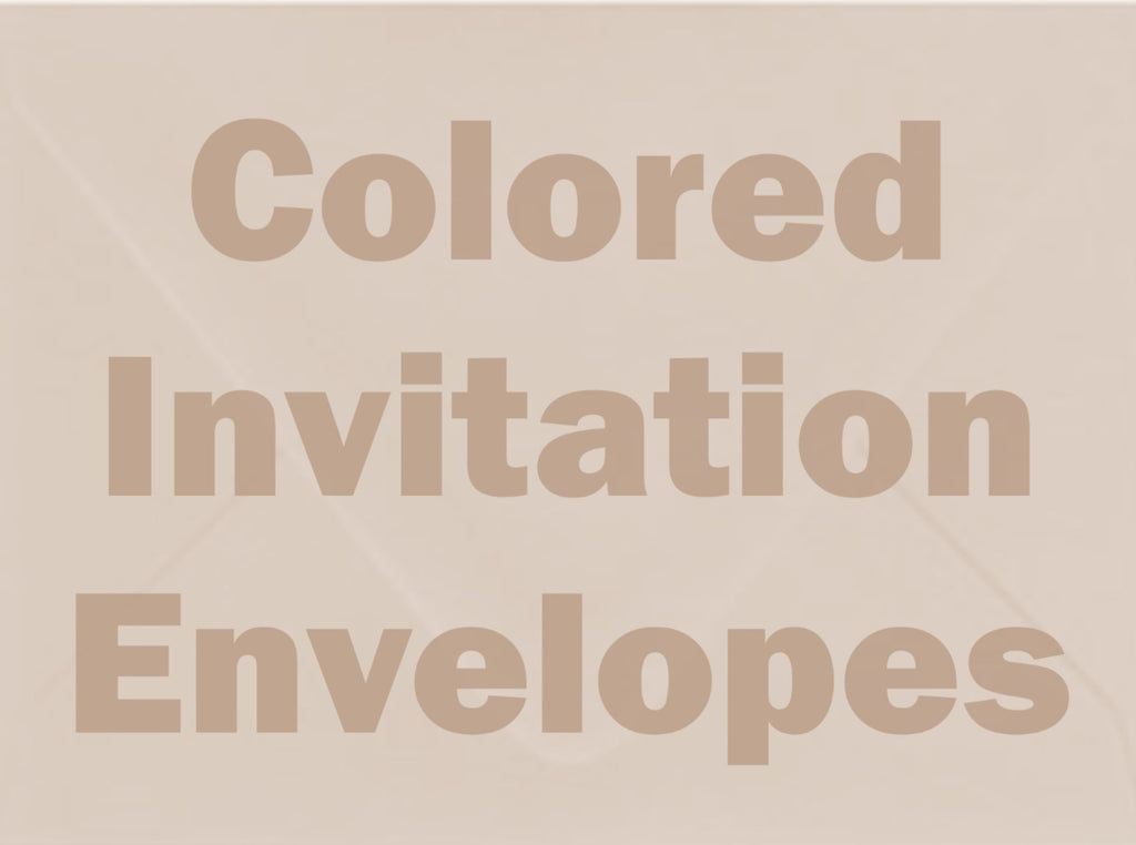 Colored Invitation Envelopes