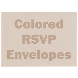 Colored RSVP Envelopes