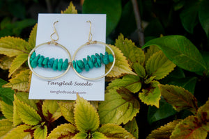 Turquoise Hoops by Tangled Suede