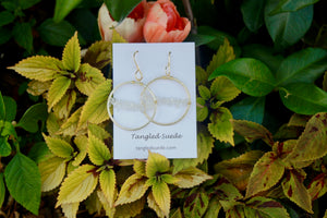 Quartz Hoops by Tangled Suede