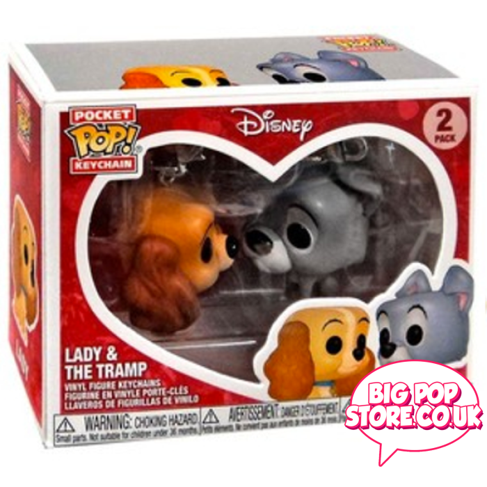 Disney - Lady & The Tramp [2 Pack] Pocket Pop