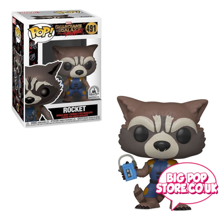Marvel - Guardians Of The Galaxy Rocket With Padlock [491] Pop Vinyl