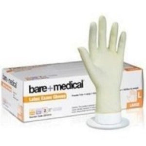 Bare Medical Gloves Latex Powder Free Small