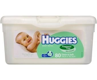 Huggies Wipes 80 Tub Unscented