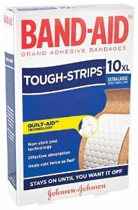 Band-Aid Tough Strips - Box 10