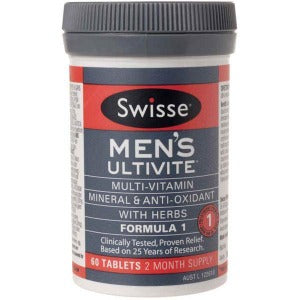 Swisse Men Ultivite F1 - Pack 60