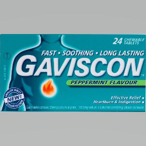 Gaviscon Peppermint Tablets - Pack 24