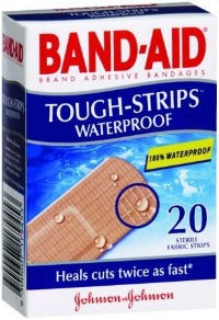 Band-Aid Tough Waterproof Strips - Box 20