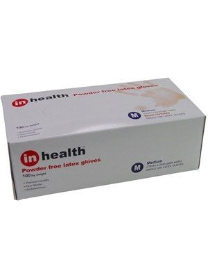 Gloves Latex Powder Free In Health Box 100