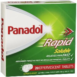 Panadol Rapid Soluble 500mg Tablets - Pack 20
