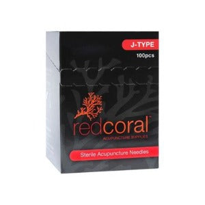 Acupuncture Red Coral J Type - Pack 100