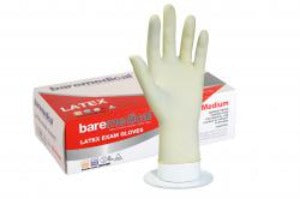 Bare Medical Gloves Latex Powder Free Large