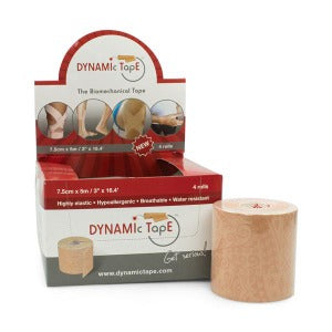 Dynamic Tape Beige 7.5cm - Pack 4