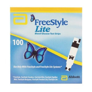 Freestyle Lite Blood Glucose Test Strips - Pack 100