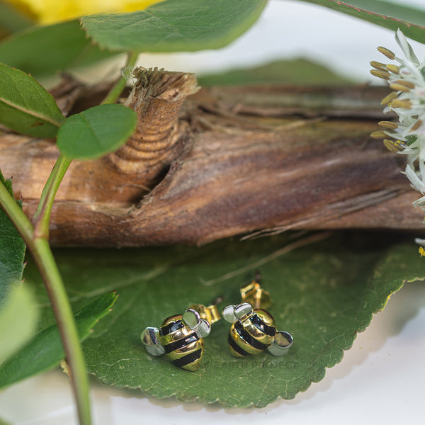 'Bee Charming' Bumblebee Earrings