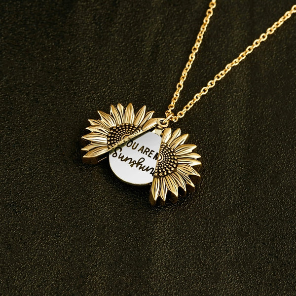 'You Are My Sunshine' Sunflower Necklace