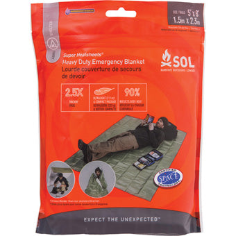 SOL HEAVY DUTY EMERGENCY BLANKET-OD Green