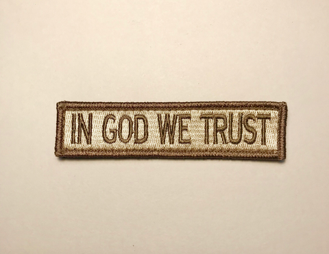IN GOD WE TRUST (light coyote) morale patch