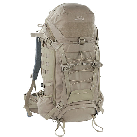 Vanquest MARKHOR-45 Backpack, Coyote Tan, Black and Wolf Gray