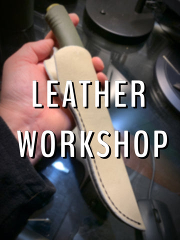 Leather Workshop - April 3, 2021 10am to 1pm or 2pm to 5pm