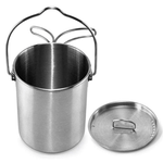 STAINLESS STEEL 25 OZ CUP, LID AND BAIL HANDLE
