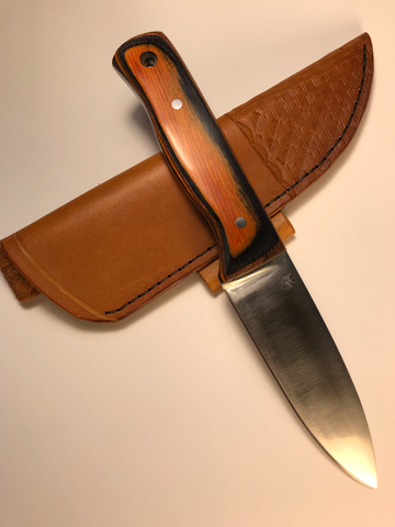 Rose Hollow Forge Bushcraft Knife and Sheath