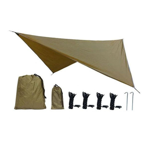 3X3 (9ft x 9ft)Tarp Anti UV Tent Shade Outdoor Camping Hammock Rain Fly