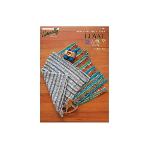 Naturally K413 Loyal Baby 4ply Prints Blanket Pattern