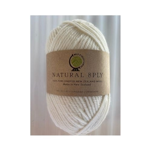 Wild Earth Yarns Natural 8 ply 100% Pure Undyed New Zealand Wool